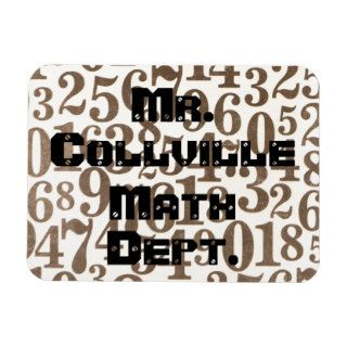 Numbers Math Flat Refrigerator Magnet