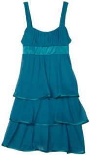 Ruby Rox  Girls 7 16 Tiered Dress With Emma Top,Teal/Mint,Small Clothing