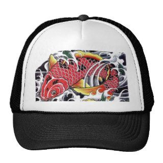 Japanese Koi Fish Tattoo Trucker Hat