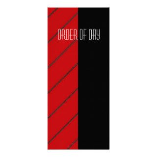 Red and black Civil Partnership wedding program Custom Invitation