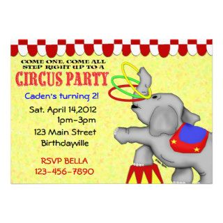 Circus Party Custom Invites