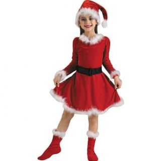 Santa Little Girl Costume   Large (Large) Clothing