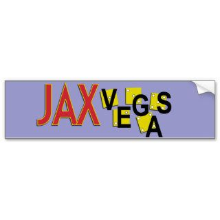 JaxVegas Proud Citizen or Visitor Bumper Stickers