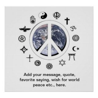 Peace on Earth Add your Message Poster
