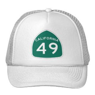 California 49 trucker hats