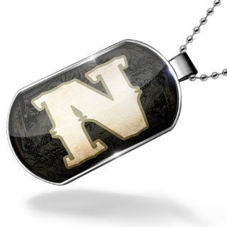 Dogtag characters, letter N WildWestBlack Dog tags necklace   Neonblond NEONBLOND Jewelry