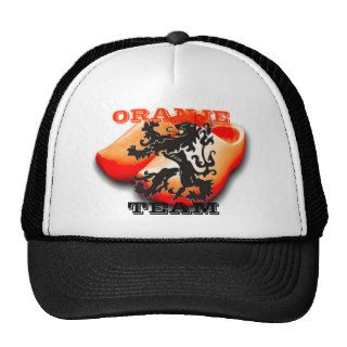 Clockwork Orange Dutch Soccer Team Black Lion Trucker Hats