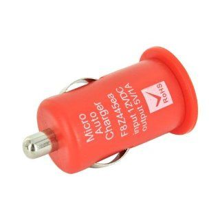 Red 12V DC USB Car Charger Adapter with LED Indicator for / MP4/ Mobile Phone by Atomic Market Cell Phones & Accessories