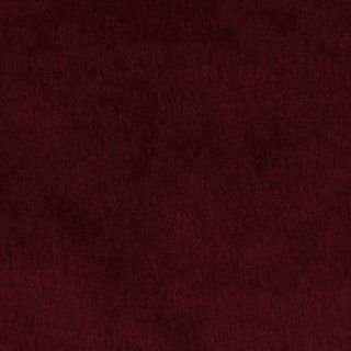 64'' Wide Plush Faux Fur Burgundy Fabric By The Yard