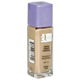 Almay Nearly Naked Makeup with SPF 15, Beige 240, 1 Ounce Bottle  Foundation Makeup  Beauty