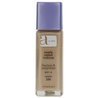 Almay Nearly Naked Makeup with SPF 15, Warm 280, 1 Ounce Bottle  Foundation Makeup  Beauty