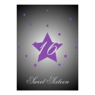 Heavenly Star Sweet Sixteen Customize Invitations