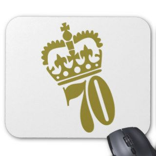70th Birthday   Number – Seventy Mouse Pad