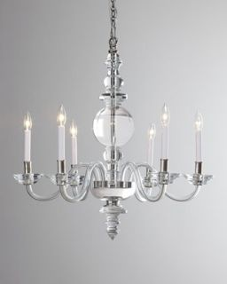 George II Large Polished Silver Chandelier
