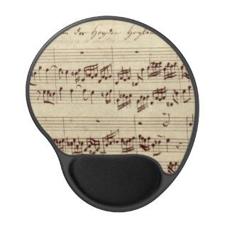 Old Music Notes   Bach Music Sheet Gel Mouse Pads