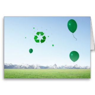 Recycle Balloons in the Sky Greeting Card