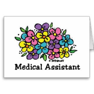 Blooms Medical Assistant Greeting Cards