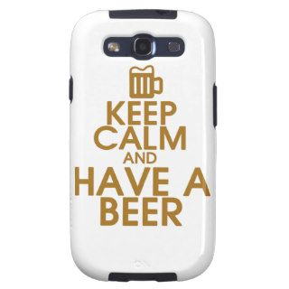 Keep Calm and Have a Beer Samsung Galaxy Case Galaxy SIII Covers