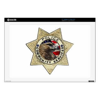 Police_Badge_Community Laptop Decal