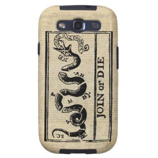 Join Or Die Woodcut on Declaration of Independence Samsung Galaxy SIII Case