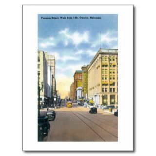 Farnam Street, Omaha, Nebraska Post Card