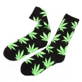 Urparcel One Pair New Plantlife Marijuana Weed Leaf Cotton High Socks Men/women Clothing