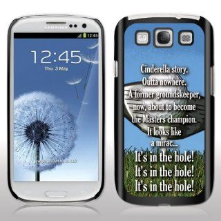 "Samsung Galaxy S3 Case   Caddyshack   Movie Quote   ""Cinderella story. Outta nowhere""   Black Protective Hard Case Cell Phones & Accessories"