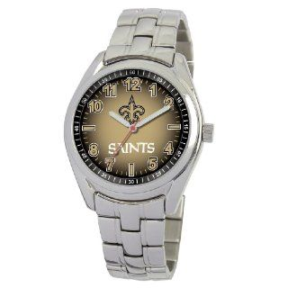 "Men's NFL New Orleans Saints ""First Rounder"" Stainless Steel Watch Watches"