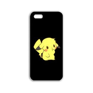 Design Apple Iphone 5C Anime Series pikachu anime Black Case of Fashion Cellphone Shell For Women Cell Phones & Accessories