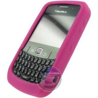 Hot Pink Silicone Gel Skin Protector Case BlackBerry Curve 8520 T Mobile Cell Phones & Accessories