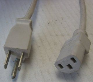 6 Foot OFF WHITE Computer or tv HIGH GRADE ac power cord , UL/CSA, 18AWG, 6' , this powers items that take this style of cord. hubs switch switches pc power supply printer laser   3 Prong 6Ft Ac Power Cord Cable Plug for Many Samsung Toshiba LG Sharp