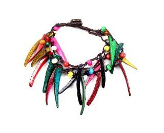 Gorgeous Multicolor Bracelet Various Colors , Wooden Material, Fish Hook Wire Stylish, Beauty, Summer (Multicolor) Jewelry
