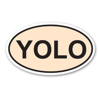 YOLO   Euro Oval   You Only Live Once   Bumper Sticker Decal Automotive