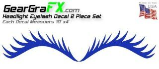 Eyelash Blue Decal Set for VW Mini Coopers Dodge Neon and Others Automotive