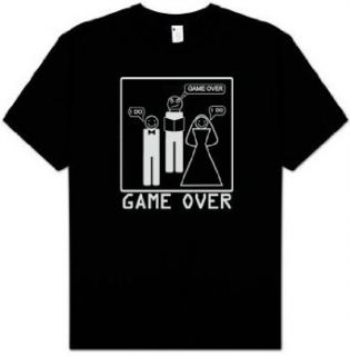 Game Over Shirt   Marriage Ceremony Bride Groom T shirt Tee   Black Clothing