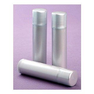 50 NEW Empty Light Silver LIP Balm Chapstick Tubes Containers .15 oz / 5 ml Tube Make Your Own Chapstick Lip Balm DIY At Home with Caps Health & Personal Care