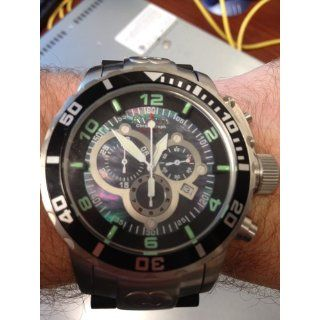 Invicta Men's 0477 Corduba Swiss Chronograph Black Polyurethane and Stainless Steel Watch Invicta Watches
