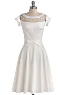 Tatyana/Bettie Page With Only a Wink Dress in Ivory  Mod Retro Vintage Dresses