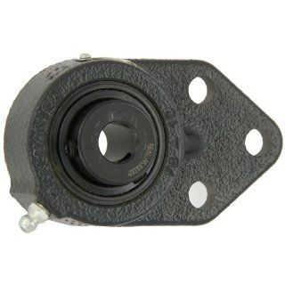 "Sealmaster FB 10 Standard Duty Flange Bracket, 3 Bolt, Regreasable, Felt Seals, Setscrew Locking Collar, Cast Iron Housing, 5/8"" Bore, 4 1/4"" Overall Length, 5/16"" Flange Height, �2 Degrees Misalignment Angle Flange Block Bearings Industri"