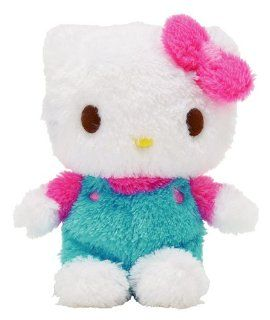 "Hello Kitty   8"" Huggable Fluffy Blue Easter Overall Sitting Plush Toys & Games"