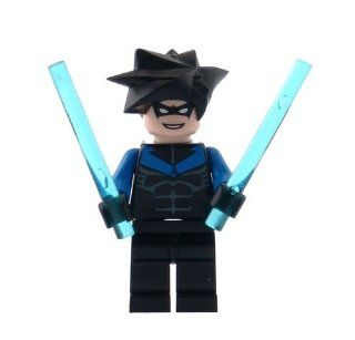 Nightwing   LEGO Batman Minifigure with Batons Toys & Games