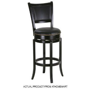 York black Pub Table Set with 2 Leather Chairback Swivel Bar Stools   Home Bars