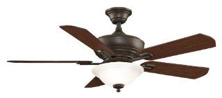 Fanimation Fans FP8095OB Camhaven Transitional Oil Rubbed Bronze Finish Indoor Ceiling Fan   5 Blades