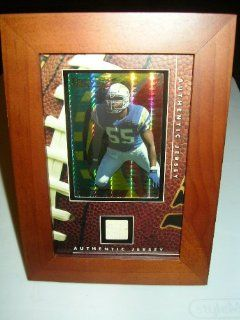 Junior Seau San Diego Chargers Jersey Swatch/Card in Framed Display   Brand New