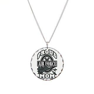 Necklace Circle Charm Proud Air Force Mom Jets Artsmith Inc Jewelry