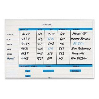 "Magna Visual Products   Magna Visual   Changeable Planner Kit, Porcelain on Steel, 36 x 24, White/Silver Frame   Sold As 1 Each   Create your own charts and communication systems easily with this magnetic write on/wipe off board.   Fused in 1"" horizon"