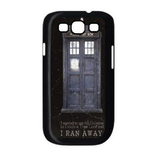 I Ran Away Doctor Who Tardis Police Box Samsung Galaxy S3 Case for Samsung Galaxy S3 I9300 Cell Phones & Accessories