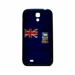 Falkland Islands Brick Wall Flag Samsung Galaxy S4 Black Silcone Case   Provides Great Protection Cell Phones & Accessories