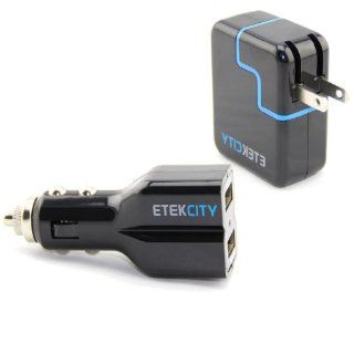 Etekcity� Two Pack Combo of Dual USB High Output Car Vehicle Charger Power Adapter & Wall Outlet Socket Charger for Apple iPad 2 3 Mini,iPhone 5 4 4s 3 3s, iPod, Android, Samsung Galaxy, Blackberry, HTC, LG, Nokia, Motorola,  Kindle fire, & other s