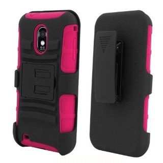 [ManiaGear] Hot Pink/Black Combat Heavy Duty Case for Samsung Galaxy S II R760/D710 Epic Touch 4G + ManiaGear Screen Protector (U.S Cellular/Sprint/Alltel/Boost Mobile) Cell Phones & Accessories